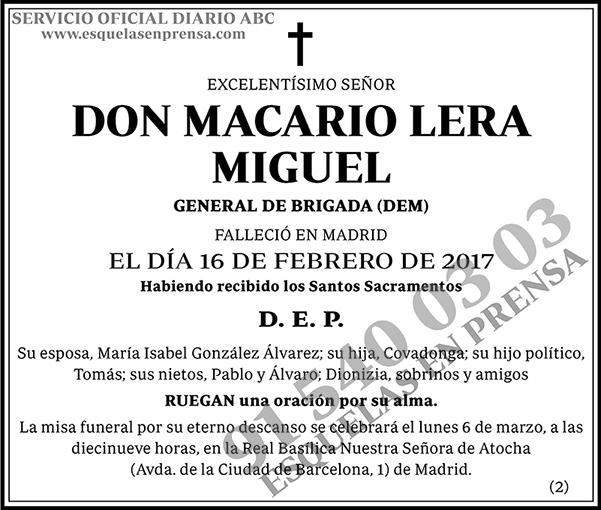 Macario Lera Miguel